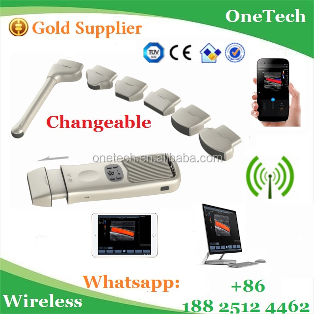 New year celebrating high quality dual heads wireless ultrasound probe scanner B/W and color doppler B26 for IOS,Android&Windows