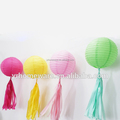 Paper lantern with tassels for wedding decoration and party decoration
