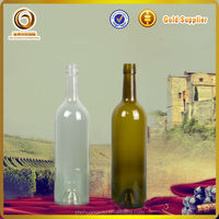 sell to Italy 750ml clear and antique green glass wine bottles