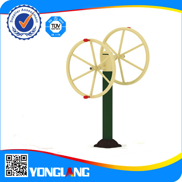 Rotating wheel arm wheel exercise equipment