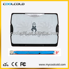 Coolcold ultra thin 2fans for 10-14inch notebook cooling pad for lap