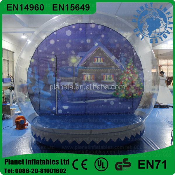 Human Size Snowglobe Inflatable For Outdoor Christmas Decoration