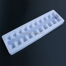 High quality custom disposable small vial blister medical tray 10 bottles plastic packaging tray for pill