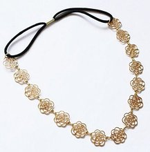 Women Vintage Fashion Headband Golden Leaves Hair Vine, Hair Accessory and Headpiece