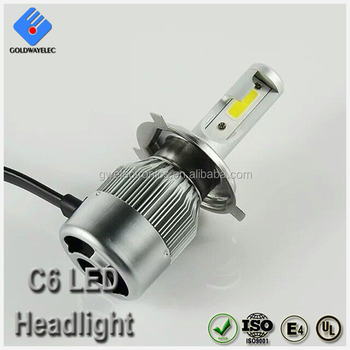 Factory Wholesale New Powerful COB C6 LED Auto Headlight H4