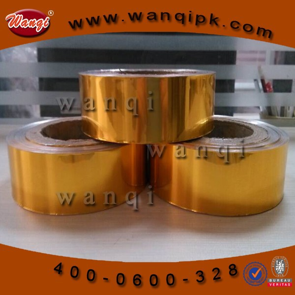 Colored aluminum foil roll for chocolate wrapper