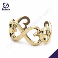 Dressy style gold plated heart design jewelry bracelet parts