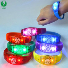 Silicone Sound / Music Activated Led Bracelet, Flashing Bracelet, Light Up Bracelet