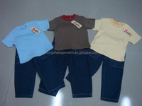 short sleeve t shirt liquidation wholesale kids clothing sets boy clothing summer stock apparel