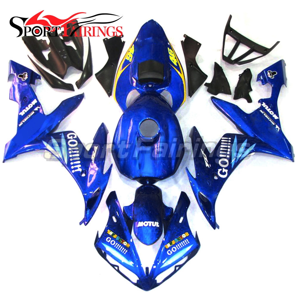 Full Fairings For Yamaha YZF <strong>R1</strong> 04 05 06 ABS Plastic Injection Motorcycle Fairing Kit Body Kits Blue 46 Go!!!
