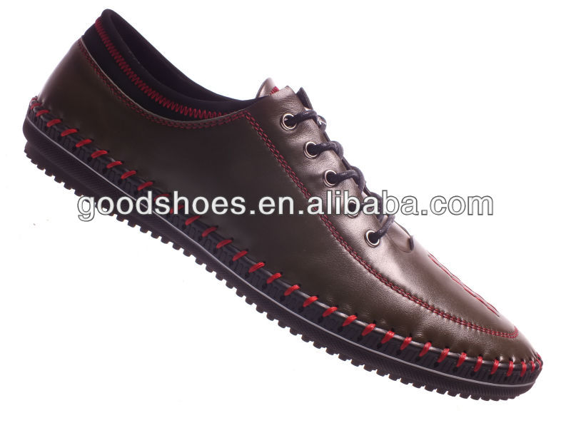 Trendy design mens casual shoes with hand-made mark threading