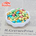 50g bottle colorful coated chocolate beans for supermarket