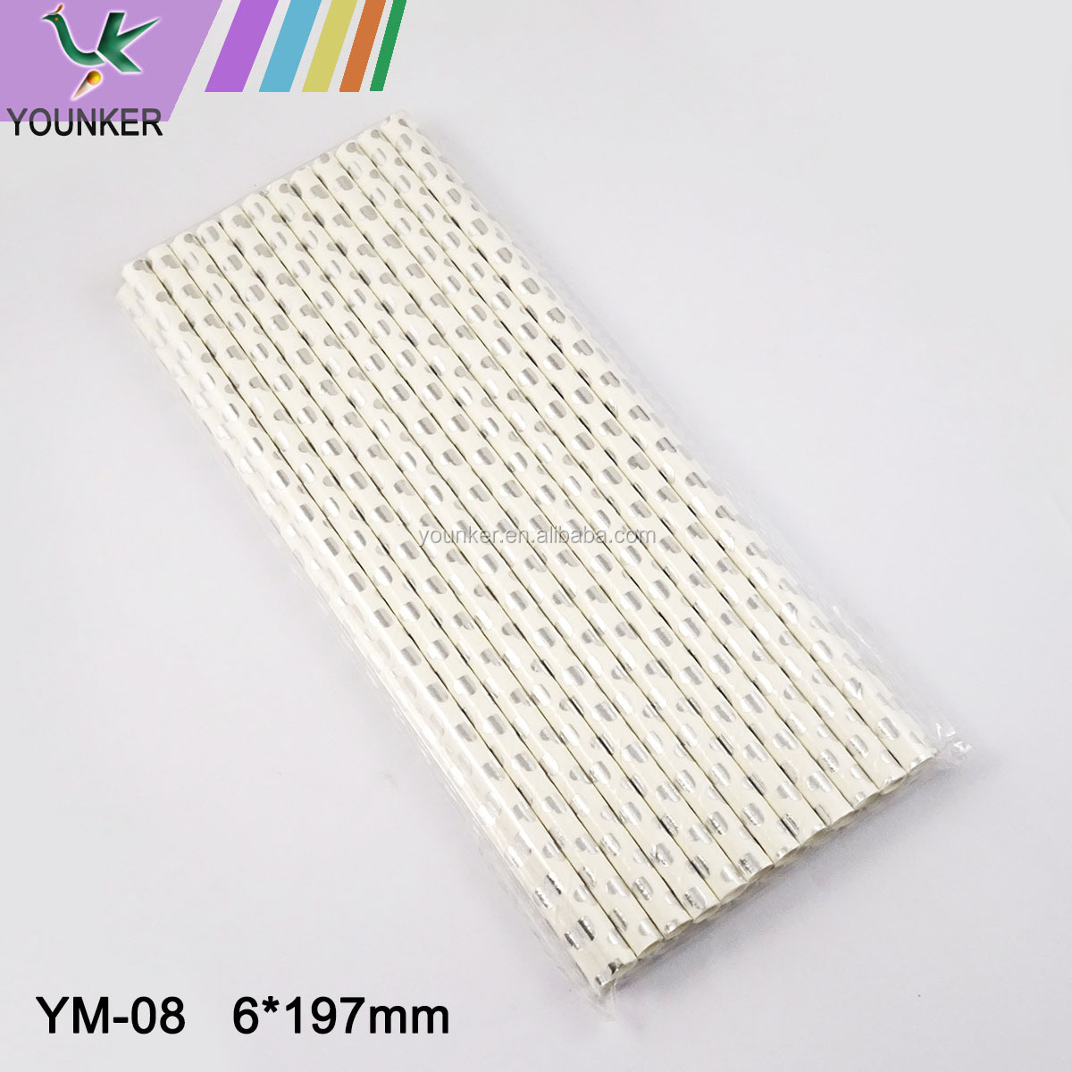 Eco-friendly Waterproof Paper Drinking Straws For Christmas Party
