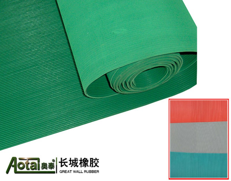 high quality 3mm 3mpa corrugated Rubber Flooring V-Grooved Ribbed Rubber Matting