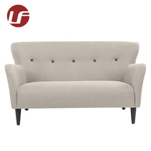 Living room new design tufted fabric style 1 2 3 seater wooden sofa