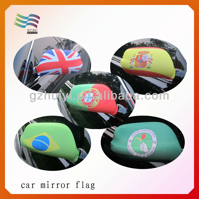 car mirror sock with differnt country design