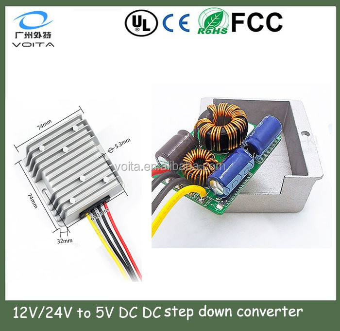 economical 24vdc 5vdc converter with high efficiency