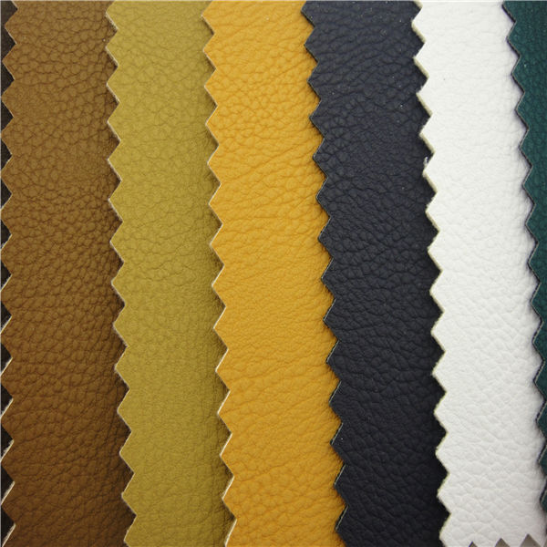 100% pu embossed synthetic leather material