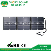 Sun 40W Power Solar Foldable Panel Solar Bicycle Charger Bag