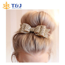 >>>Large 7-color explosion models shiny gold glitter bow lady hairpin spring clip hair accessories wholesale /hair bow/