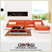 Ganasi furniture leather sofa set/ Contemporary sofa sets/ Italian sofa set designs