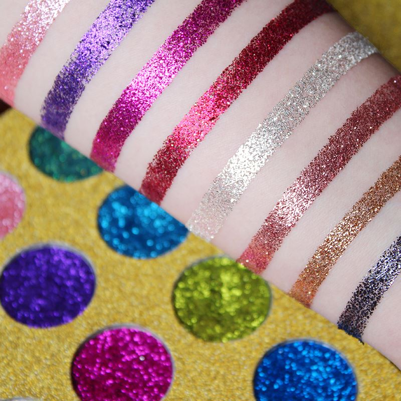 12 Color Glitter Injections Pressed Glitters Single Eyeshadow Diamond Rainbow Make Up Cosmetic Eye Shadow Glitter Magnet Palette