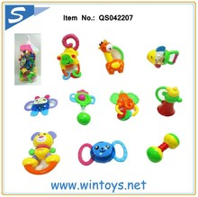 10pcs assorted Baby Handbell baby bottles plastic toy