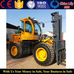China 2Ton 4WD Off-road Rough Terrain Forklift With Diesel Engine