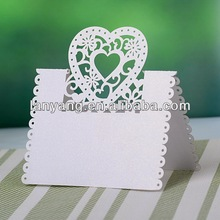 Laser cut heart wedding favor paper place card holder and favor box