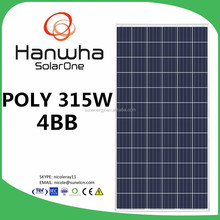 HSL 72 S Poly solar panels Up to 315 Wp for Ground mounted & large commercial