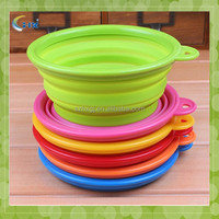 Dog Cat Silicone Collapsible Feeding Water Feeder Bowl pet supplies Travel Dish collapsibel dog bowl