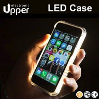 High quality flashing mobile phone cover led flash light up case for apple iphone 6 6s 5 5s 4 4s