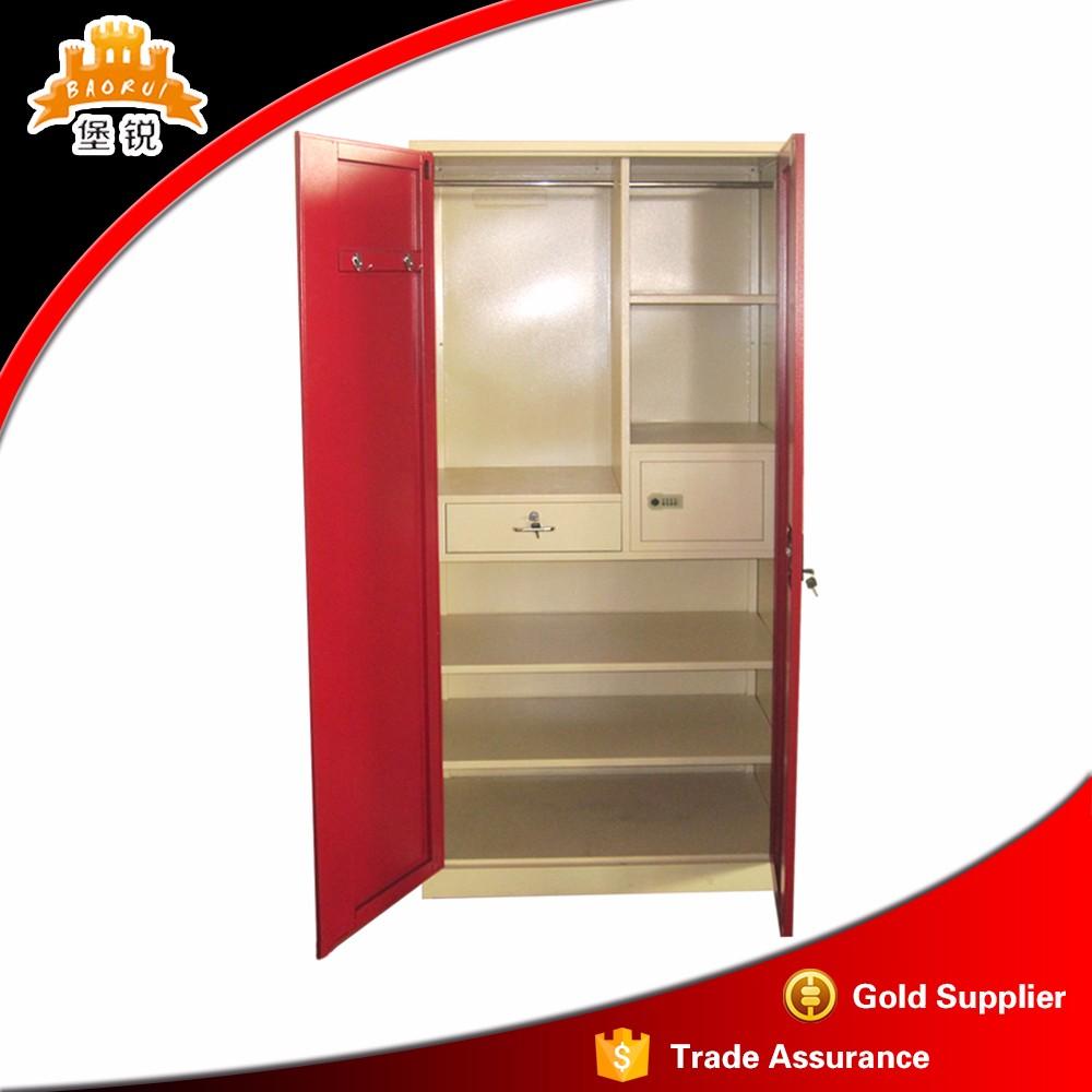 Modern godrej almirah designs bedroom furniture 3 door metal wardrobe with competitive price - Modern almirah designs ...