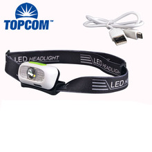 Rechargeable High power head lamp for fishing camping bicycle light led USB headlamp