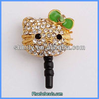 Wholesale 3.5mm Earphone Jack Dust Plug Cell Phone Headphone Dustproof Ear Cap Hello Kitty For Iphone Ipad MDP-M06D