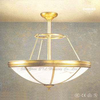 2017 So beautiful Luxury Traditional faux alabaster pendant lamps in gold finished made in China ETL87377