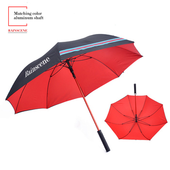 G27-15 27 inch matching color aluminum shaft double layer luxury golf umbrella