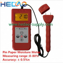 Automatic temperature Compensation Pin type Paper carton chipboard Timber Chinese Medicine Moisture Meter Tester