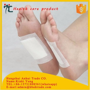 wood vinegar detox foot patch for body health