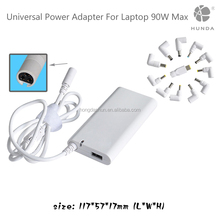 Factory OEM universal laptop adapter 90W slim external laptop battery charger with 8-12 PCS DC transfer