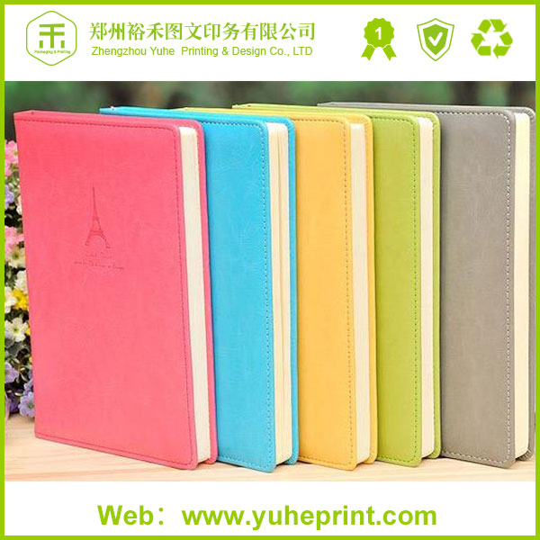 Cheap price spiral bound leather cover school notebook henan factory printing