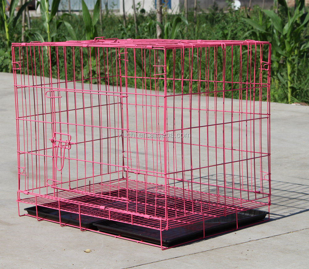 Foldable dog cage metal wire dog kennel pet cages