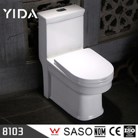 China Ceramic 4 Inch Outlet Siphonic Close-Coupled Toilet WC
