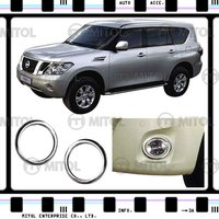 Chrome Fog Lamp Rims For Nissan PATROL 10-on, Auto Accessories