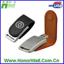 leather magnet embossed logo usb flash drive gift 128gb 3.0