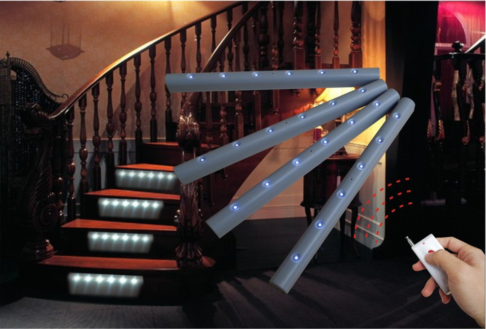 wireless led stair light with remote controller wst 1813 5t buy led stair light led stair wall. Black Bedroom Furniture Sets. Home Design Ideas