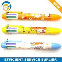 China Pen Manufacture 10 in 1 Plastic Ballpoint Pen with Logo