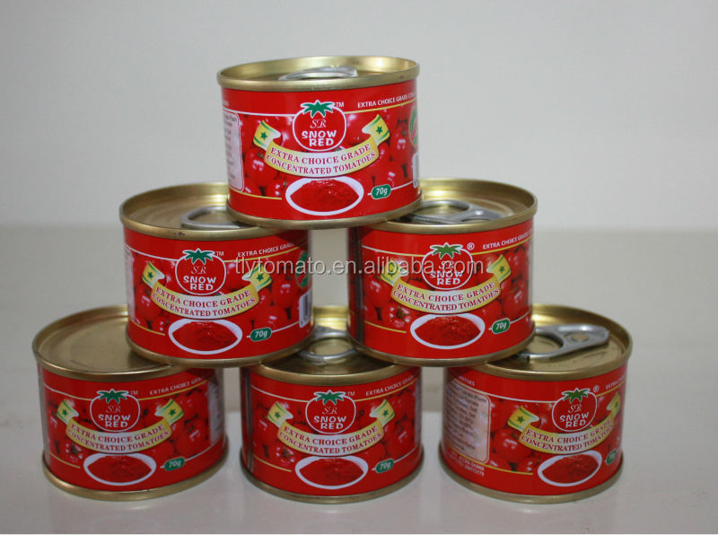 brix 28-30%70g easy /hard open canned tomato past manufacture