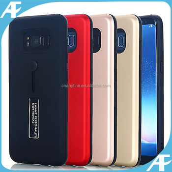 Soft ring holder tpu+pc 2 in 1 case cover for iphone 7plus/samsung s8 plus