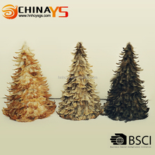BSCI Manufacturer Competitive Price Hot Sale feather decorated christmas trees